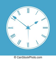 Clock white icon