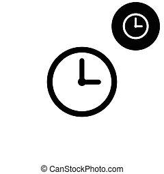 clock  - white vector icon