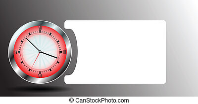 clock with abstract background