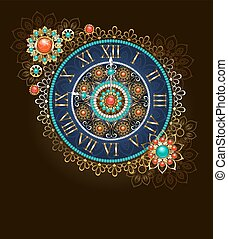 Clock with Beads