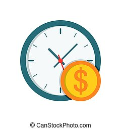 Clock with coin icon