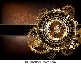 Clock with gears