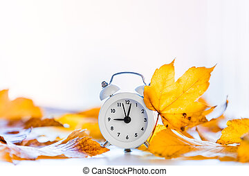 clock with maple leaves