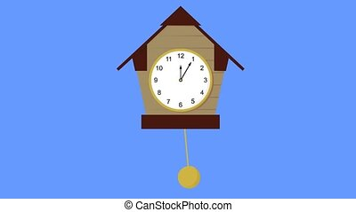 clock with pendulum animation video