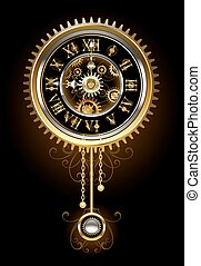 Clock with pendulum - Pendulum clock in the style of...
