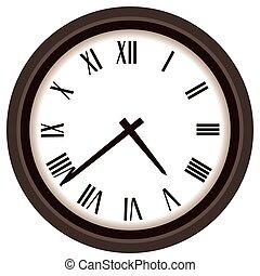 Clock with Roman Numerals - A modern clock has roman...
