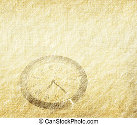 clock with set of abstract painted background