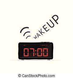 clock with wake up alarm illustration