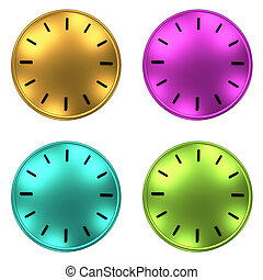 clock without arrows 3D illustration