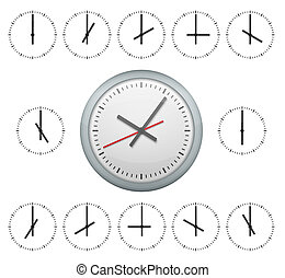 Clock without numbers isolated on white.