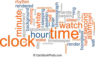 Clock word cloud