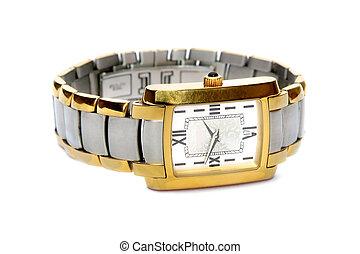 clock., wrist-watch.
