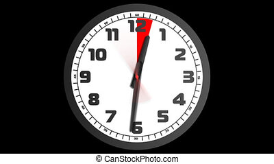 Clock_1_1 - Animated clock counting down 12 hours over 30...