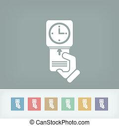clocking-in, carte, icône