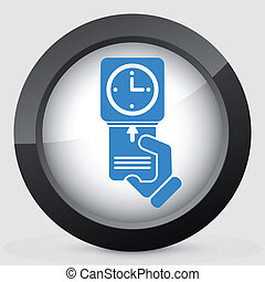clocking-in, scheda, icona