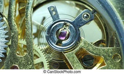 clock?mechanism, travaux