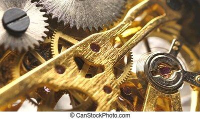 Close up of an internal?clock?mechanism