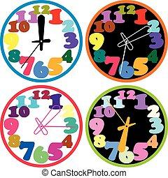 clocks, θέτω , γραφικός