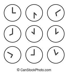 clocks, ώρα , θέτω , κάθε