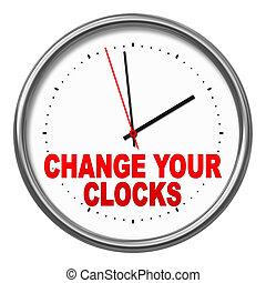 clocks, あなたの, 変化しなさい