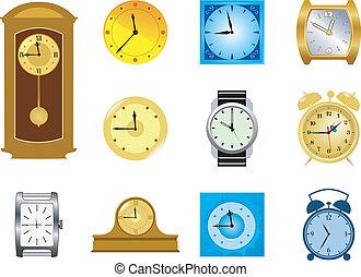 clocks, セット