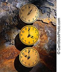 Clocks Against Rusting Metal