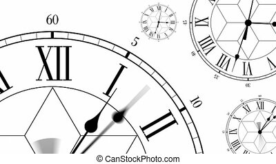Clocks Antique Style Dials Mono HD