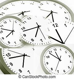Assortment of clock faces