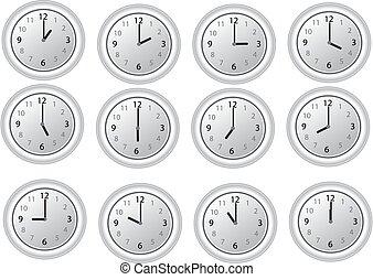 clocks, branca, 12 horas
