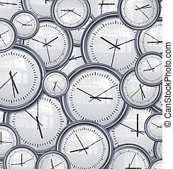 clocks, e, tempo, fondo