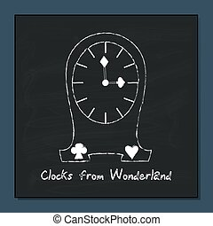 Clocks from Alice Adventures in Wonderland