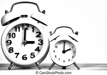 Clocks marking winter time change