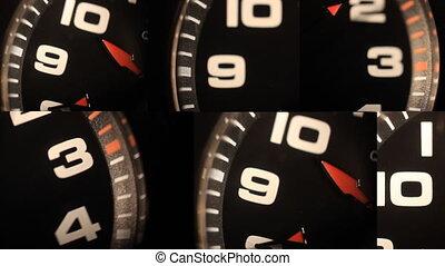 clocks, noir, nombres