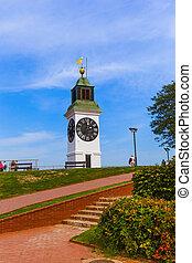 Clocktower in Petrovaradin fortress - Novi Sad Serbia -...