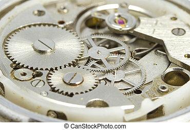 Clockwork close up - Hours close up