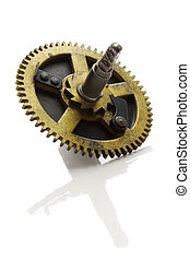 clockwork gears isolated