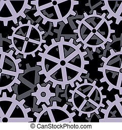 clockwork gears seamless background pattern