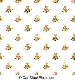 Clockwork mouse pattern, cartoon style