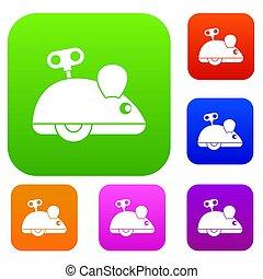 Clockwork mouse set color collection