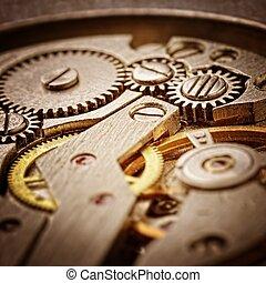clockworks - rusty mechanism in the old clock