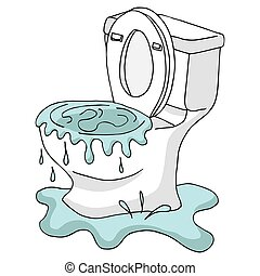Clogged Toilet - An image of a Clogged Toilet.