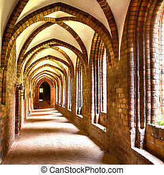 Cloister arches - Image of the cloister arches inside the...