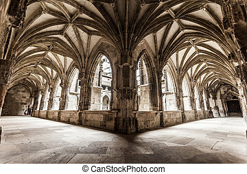 Cloister arches - Cloister arch perspective of Cahors...