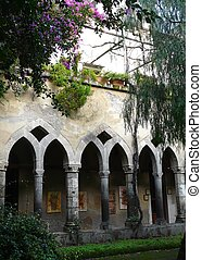 Cloister at a church in Sorrento