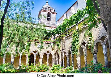 Cloister at San Francesco d'Assisi Church in Sorrento,...