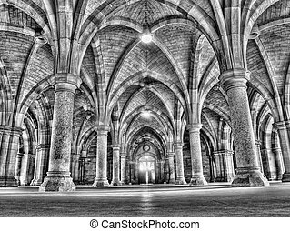Glasgow university cloister HDR processed