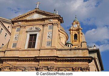 Cloister of Sant Andrea, Genoa - The cloister of the church ...