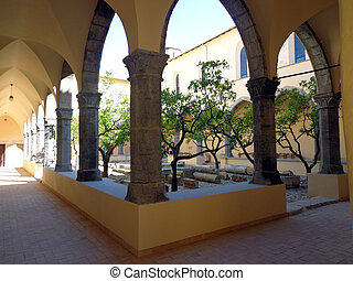Cloister of the convent of St. Francis in Fondi, Italy.
