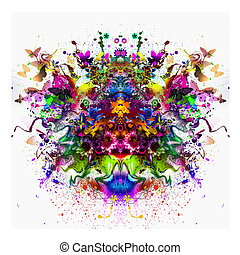 clolrful floral abstraction