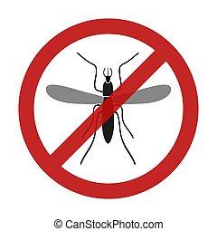 clona, moskyt, hmyz, červeň, omezení, firma, eps10